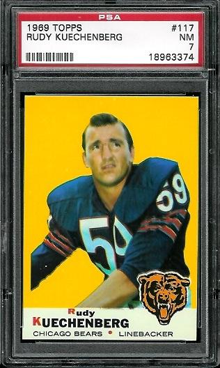 1969 Topps #117 - Rudy Kuechenberg - PSA 7