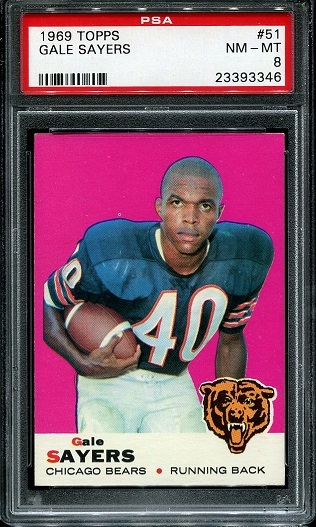 1969 Topps #51 - Gale Sayers - PSA 8