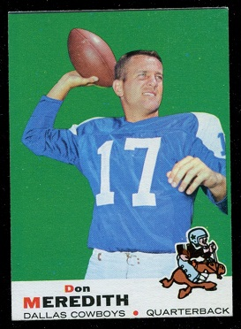 1969 Topps #75 - Don Meredith - exmt