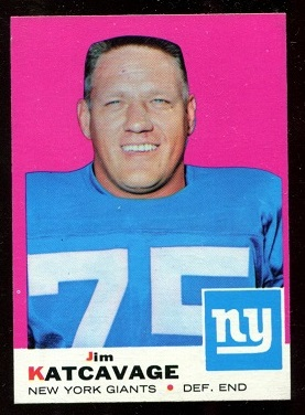 1969 Topps #84 - Jim Katcavage - nm