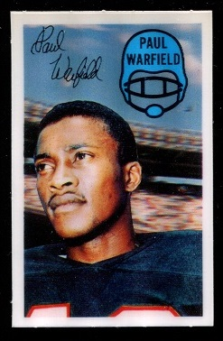 1970 Kelloggs #21 - Paul Warfield - nm