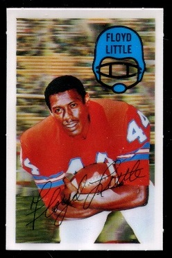 1970 Kelloggs #32 - Floyd Little - nm-mt