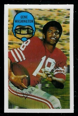1970 Kelloggs #7 - Gene Washington - nm+