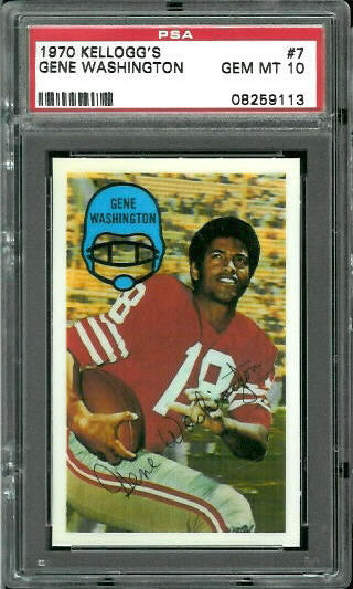 1970 Kelloggs #7 - Gene Washington - PSA 10