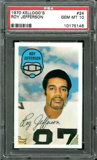 1970 Kelloggs #24 - Roy Jefferson - PSA 10