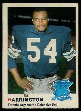 1970 O-Pee-Chee CFL #1 - Ed Harrington - nm