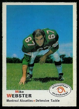 1970 O-Pee-Chee CFL #109 - Mike Webster - exmt