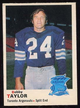 1970 O-Pee-Chee CFL #11 - Bobby Taylor - nm+