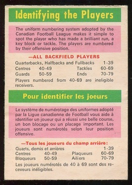1970 O-Pee-Chee CFL #115 - Identifying the Players - vg