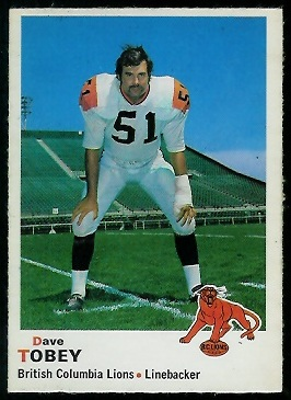 1970 O-Pee-Chee CFL #27 - Dave Tobey - nm+
