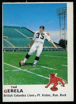 1970 O-Pee-Chee CFL #31 - Ted Gerela - nm+ oc