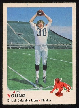 1970 O-Pee-Chee CFL #32 - Jim Young - ex