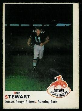 1970 O-Pee-Chee CFL #37 - Ron Stewart - vg