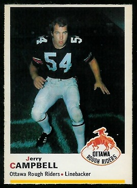 1970 O-Pee-Chee CFL #45 - Jerry Campbell - ex