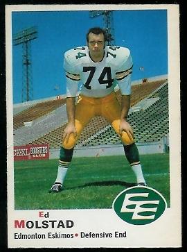 1970 O-Pee-Chee CFL #55 - Ed Molstad - ex