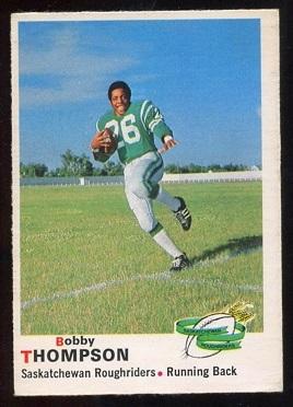 1970 O-Pee-Chee CFL #78 - Bobby Thompson - vg