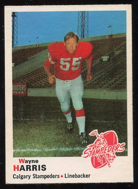 1970 O-Pee-Chee CFL #89 - Wayne Harris - nm