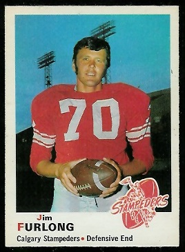 1970 O-Pee-Chee CFL #90 - Jim Furlong - nm+