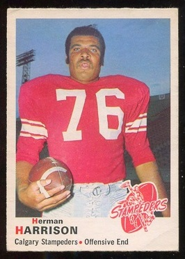 1970 O-Pee-Chee CFL #95 - Herman Harrison - nm