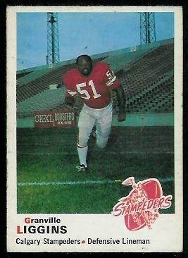 1970 O-Pee-Chee CFL #96 - Granville Liggins - vg-ex