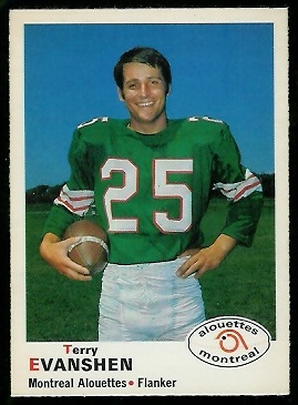 1970 O-Pee-Chee CFL #98 - Terry Evanshen - nm+