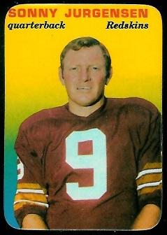 1970 Topps Super Glossy #20 - Sonny Jurgensen - nm