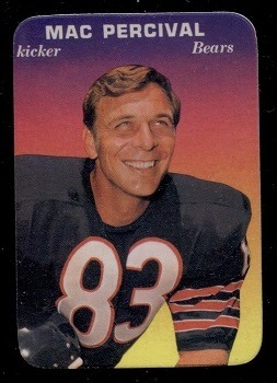 1970 Topps Super Glossy #4 - Mac Percival - nm oc