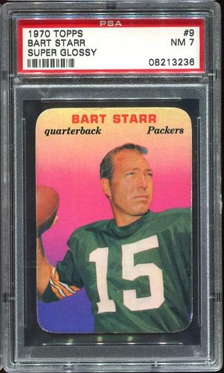 1970 Topps Super Glossy #9 - Bart Starr - PSA 7