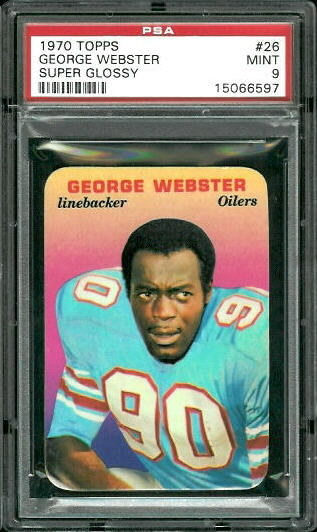 1970 Topps Super Glossy #26 - George Webster - PSA 9
