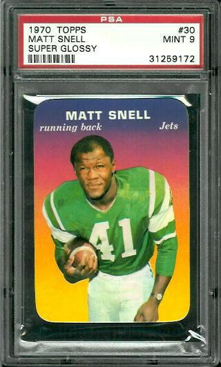 1970 Topps Super Glossy #30 - Matt Snell - PSA 9