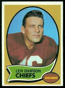 1970 Topps #1 - Len Dawson - exmt