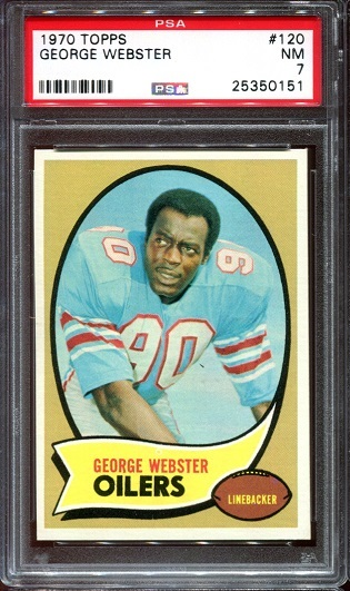 1970 Topps #120 - George Webster - PSA 7