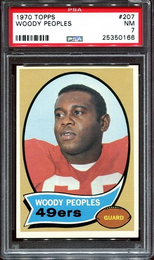 1970 Topps #207 - Woody Peoples - PSA 7