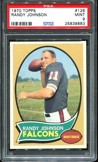1970 Topps #126 - Randy Johnson - PSA 9