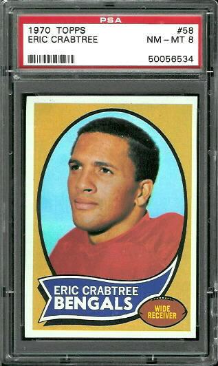 1970 Topps #58 - Eric Crabtree - PSA 8