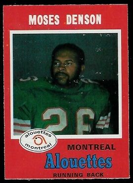 1971 O-Pee-Chee CFL #107 - Moses Denson - nm