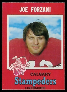 1971 O-Pee-Chee CFL #121 - Joe Forzani - nm oc