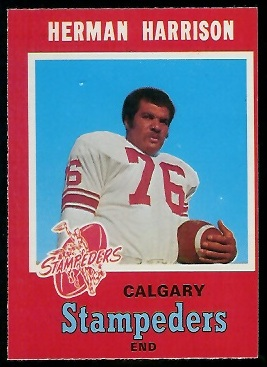 1971 O-Pee-Chee CFL #124 - Herman Harrison - nm oc