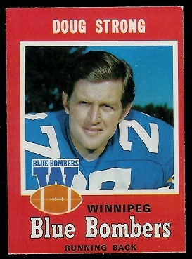 1971 O-Pee-Chee CFL #17 - Doug Strong - exmt