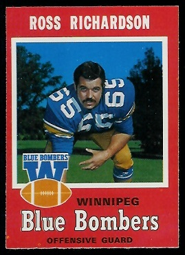 1971 O-Pee-Chee CFL #25 - Ross Richardson - exmt