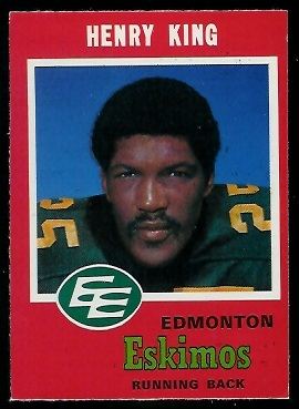 1971 O-Pee-Chee CFL #47 - Henry King - exmt