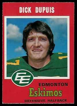 1971 O-Pee-Chee CFL #54 - Dick Dupuis - exmt
