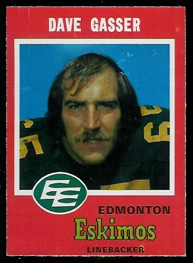 1971 O-Pee-Chee CFL #55 - Dave Gasser - exmt