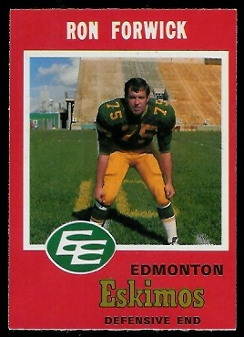 1971 O-Pee-Chee CFL #56 - Ron Forwick - nm