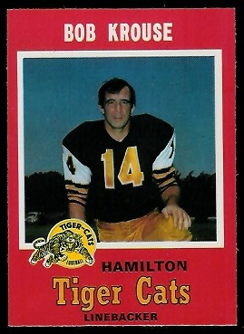 1971 O-Pee-Chee CFL #70 - Bob Krouse - nm-mt