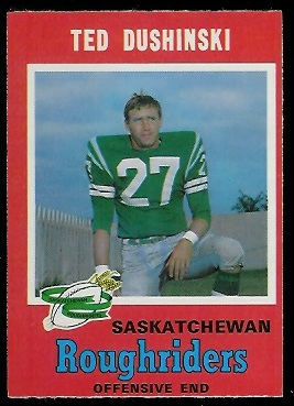 1971 O-Pee-Chee CFL #96 - Ted Dushinski - nm oc