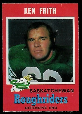 1971 O-Pee-Chee CFL #98 - Ken Frith - exmt