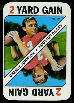1971 Topps Game #24 - Charley Johnson - nm oc
