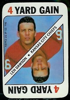 1971 Topps Game #25 - Len Dawson - exmt