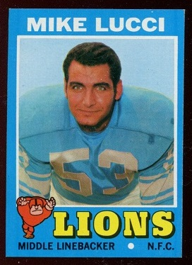 1971 Topps #105 - Mike Lucci - nm